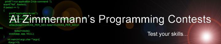 Al Zimmermann's Programming Contests